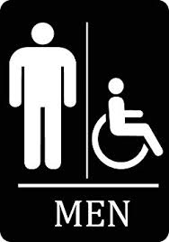 just bathroom signs. Mens Bathroom Handicap Accessible Black Sign - Men Restroom 12x18 Signs Aluminum Metal Just