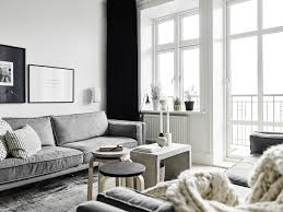 Interior Design Black And White Living Room A Neutral Scandinavian Family Home Tour Black White Grey And Wood