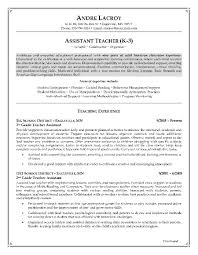 Teaching Assistant Resume Description Sample Resume For Special