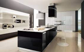 Awesome Wallpaper: Black And White Kitchen Designs With Black Cabinet; Kitchen;  August 25, 2016; Download 554 X 346 ...