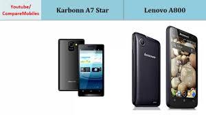 Karbonn A7 Star vs Lenovo A800, Details ...