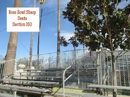 Rose Parade Bleacher Seating Chart Section 150 On Parade Route Picture Of Rose Bowl Stadium