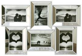 mirror picture frames. multi aperture mirrored 4 x 6 photo frame - picture frames: amazon.co.uk: kitchen \u0026 home mirror frames e