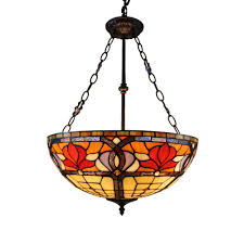 Discount Tiffany Style Lighting Tiffany Style Floral 18 Inch Hanging Lamp Overstock