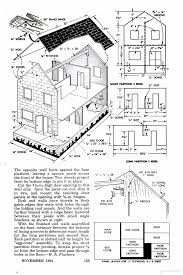 dollhouse furniture plans. A 3 Foot Long Make-it-yourself Plywood Dollhouse Project From The Furniture Plans