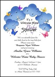 personalize your welcoming mom and new baby butterflies in the clouds welcome  home shower party invites