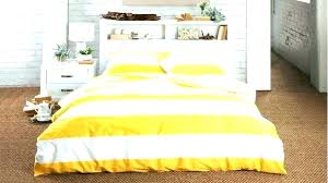 mustard yellow duvet stripe cover linen king