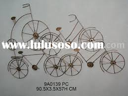 indian decorative wrought iron bicycle with wall art shabby chic