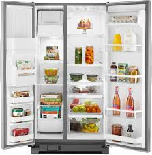 whirlpool side by side refrigerator 2011. whirlpool wrs325fdad - interior view full side by refrigerator 2011 1