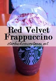starbucks drinks secret menu.  Starbucks Starbucks Secret Menu Red Tuxedo Or Velvet Frappuccino For Drinks Menu B