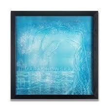 turquoise dream acrylic canvas board
