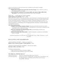 Communications Manager Resume Managed Resources To 2 Reduce