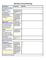 narritive essay narrative essay planning sheet by kelseys corner tpt