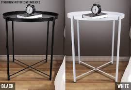 minimalist metal round tray side table two colours available