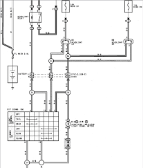 1990 toyota a wiring diagram for the headlight circuit relay bulbs