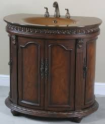 Half Bathroom Vanity Ultimate Accents Half Round Walnut Glass Top Bathroom Vanity