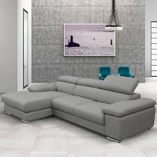 leather sofa with chaise. Simple Leather Nicoletti Lipari Grey Italian Leather Sofa Chaise Leftfacing With Chaise