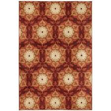 amelia medallion red 10 ft x 12 ft area rug