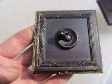 bakelite switch vintage bakelite light switch square plate ceramic art deco old antique brown