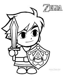 The Legend Of Zelda Coloring Pages Free At Getcoloringscom Free