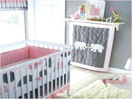 elephant baby bedding set decorative grey pink and crib gray