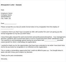 Sudden Resignation Letter Sample – Kensee.co