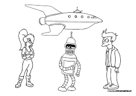 futurama coloring pages. Interesting Pages Futurama Coloring Pages Intended Coloring Pages