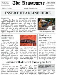 Free Front Page Newspaper Template Brilliant Ideas Of Front Page Newspaper Template Ms Word Document