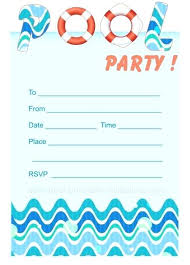 Party Invites Templates Free Pool Party Invite Template Free Invites Download Birthday Invitation