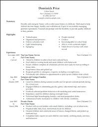 Nanny Resume Examples Inspiration Example Of Nanny Resume Example Nanny Resume Examples Of Resumes
