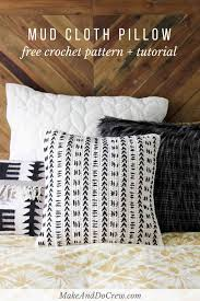 Free Pillowcase Pattern Custom Mud Cloth Crochet Pillow Pattern Free Pattern Make Do Crew