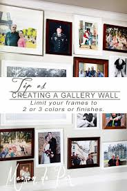 tips for organizing gallery walls
