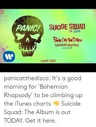 Rhapsody Charts Suicide Seuad The Album Bohemian Rhapsody Available Noww