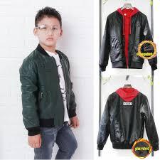 kids spring winter clothing boys leather er jacket pu coat children metal patched zippered fashion outwear windproof parka jacket boys winter jacket