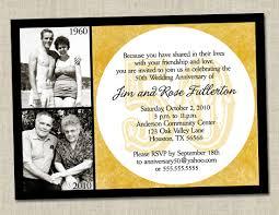anniversary cards golden jubilee wedding invitation marriage