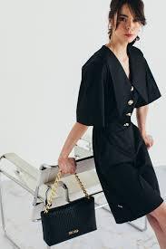 Black <b>women's jumpsuit</b> with oversize collars   Mona <b>Fashion</b> ...