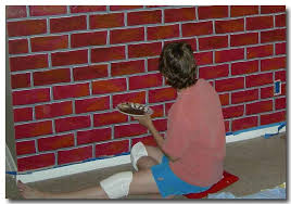 painting fake brick beginner challenges fake brick wall easy faux painted brick wall