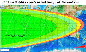 امكانية رؤية هلال شهر ذي الحجة 1441... - الفريق العراقي للفضاء