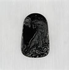 black jade tiger pendant jade