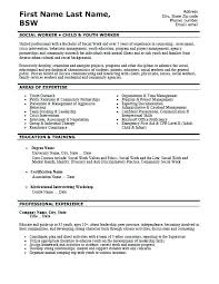 Example Of Work Resume Fascinating Social Work Resume Sample Sample Social Worker Resume Sample Resume