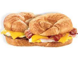 for 4 breakfast croissants at jack in