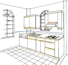 Simple Kitchen Drawing Perspective Plain Interior Design To S With Inspiration Decorating