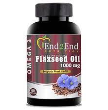 End2End Nutrition Cold Pressed Flaxseed Oil (<b>Omega 3-6-9</b>) 1000 ...