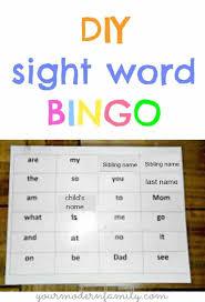 abc bingo and sight word bingo easy