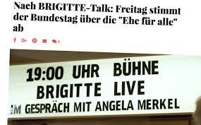 Merkels Privat Audienz Bei Brigitte übermedien