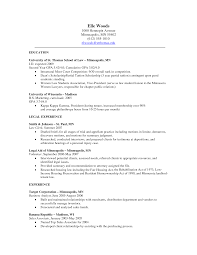 Law School Resume Examples