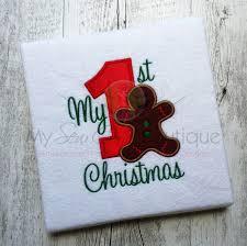 First Christmas Applique Design Christmas Applique Christmas Embroidery My First Christmas Embroidery Design Applique Design Christmas Design Machine Applique