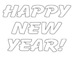 Small Picture A Simple Text of Happy New Year Coloring Page Download Print