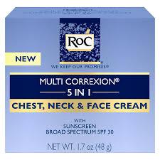 roc multi correxion 5 in 1 chest neck face cream