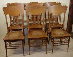oak pressed back dining room chairs chair design ideas